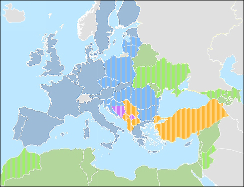 IPA and ENP Map; © European Commission