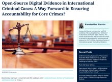 """Publikation: """"Open-Source Digital Evidence in International Criminal Cases: A Way Forward in Ensuring Accountability for Core Crimes?"""" by Konstantina Stavrou"""