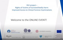 VIDEO // RiVi online event: Rights of Victims of Survived Bodily Harm: Improved Access to Clinical Forensic Examinations